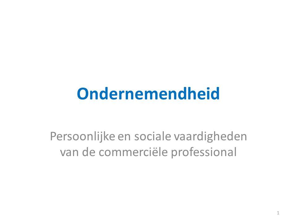 Persoonlijke en sociale vaardigheden van de commerciële professional