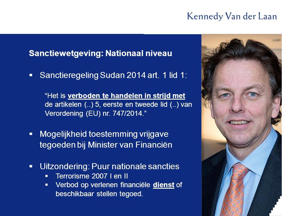 Sanctiewetgeving: Nationaal niveau