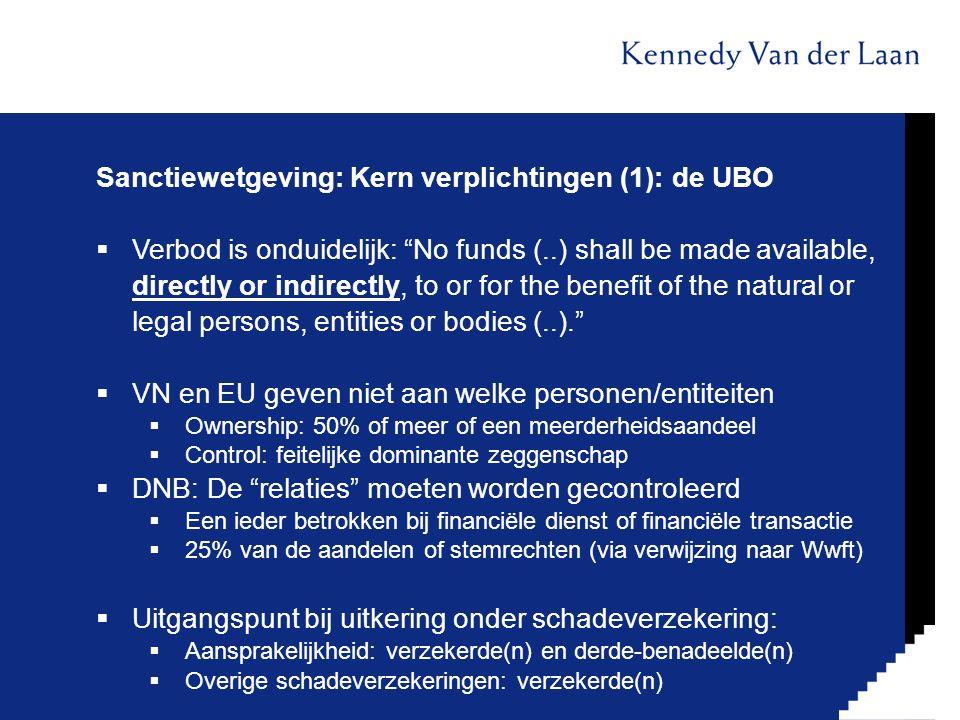 Sanctiewetgeving: Kern verplichtingen (1): de UBO