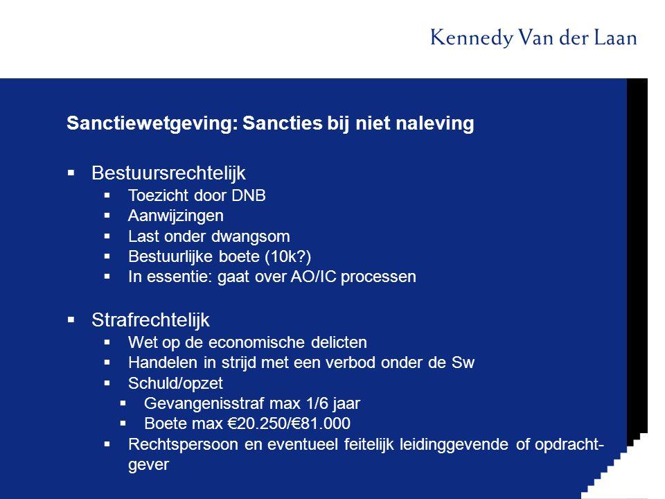 Sanctiewetgeving: Sancties bij niet naleving