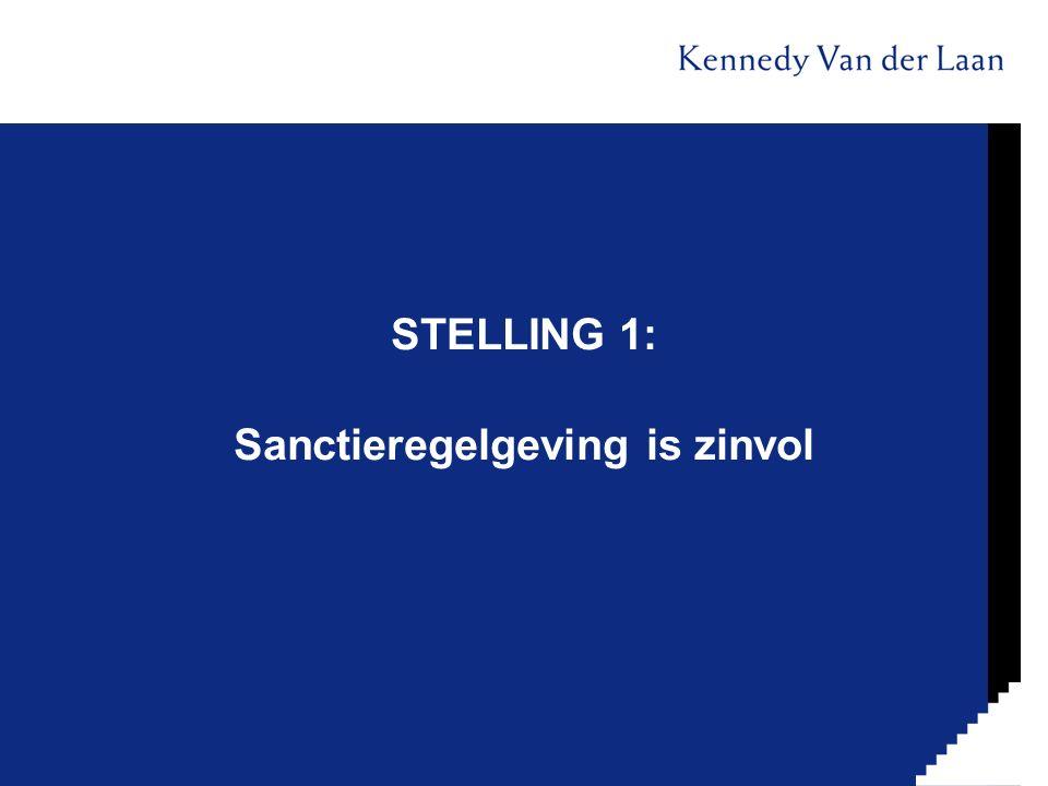 STELLING 1: Sanctieregelgeving is zinvol