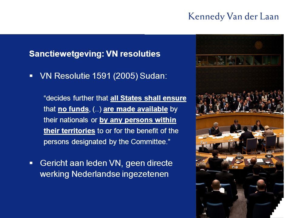 Sanctiewetgeving: VN resoluties