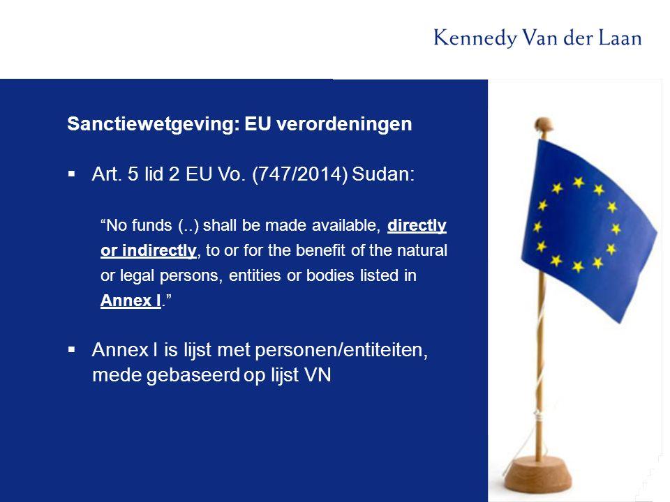 Sanctiewetgeving: EU verordeningen