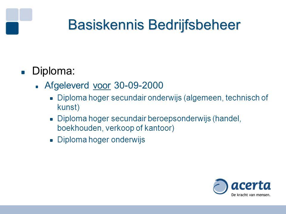 Basiskennis Bedrijfsbeheer