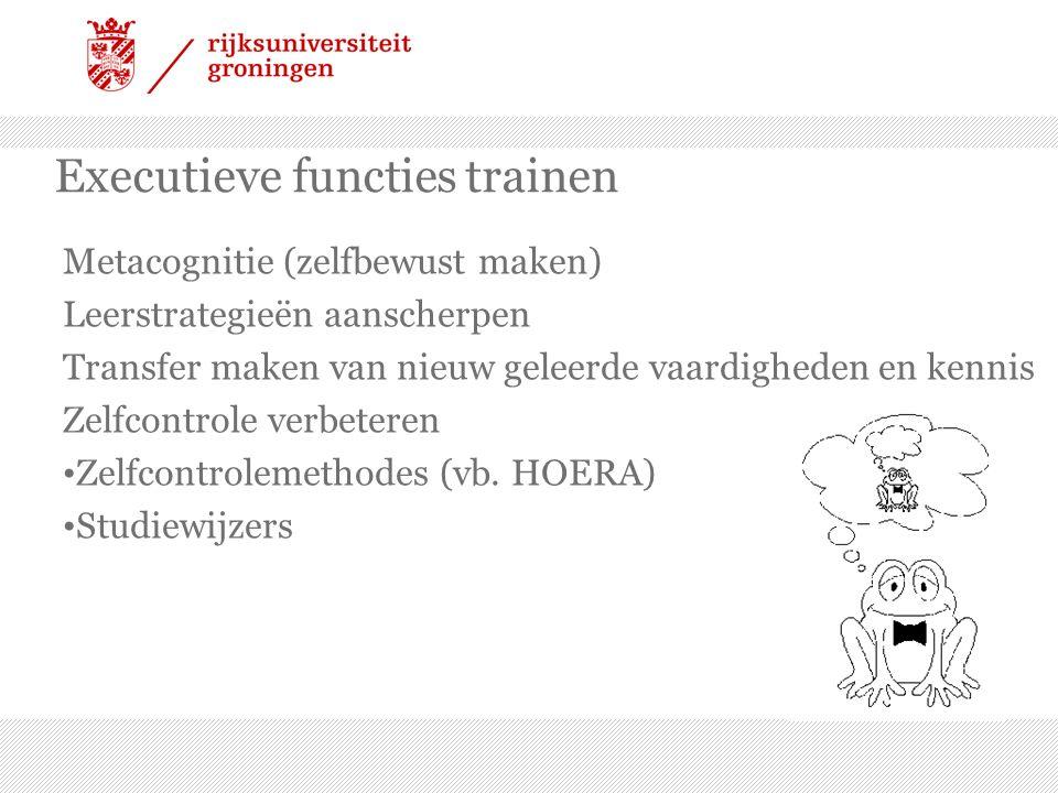 Executieve functies trainen