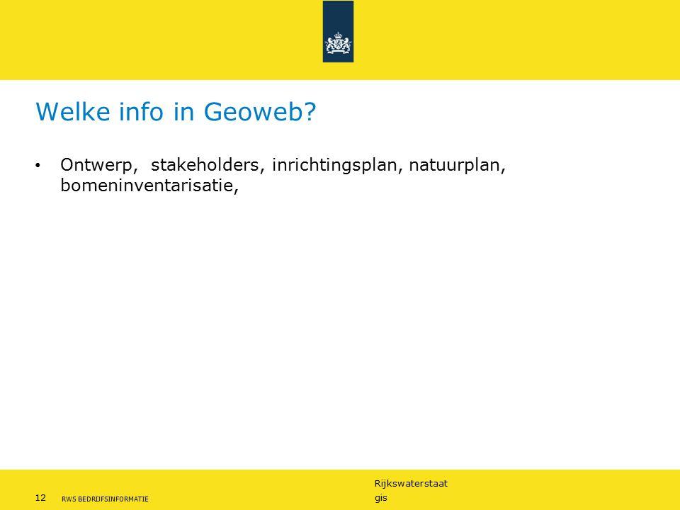Welke info in Geoweb Ontwerp, stakeholders, inrichtingsplan, natuurplan, bomeninventarisatie,