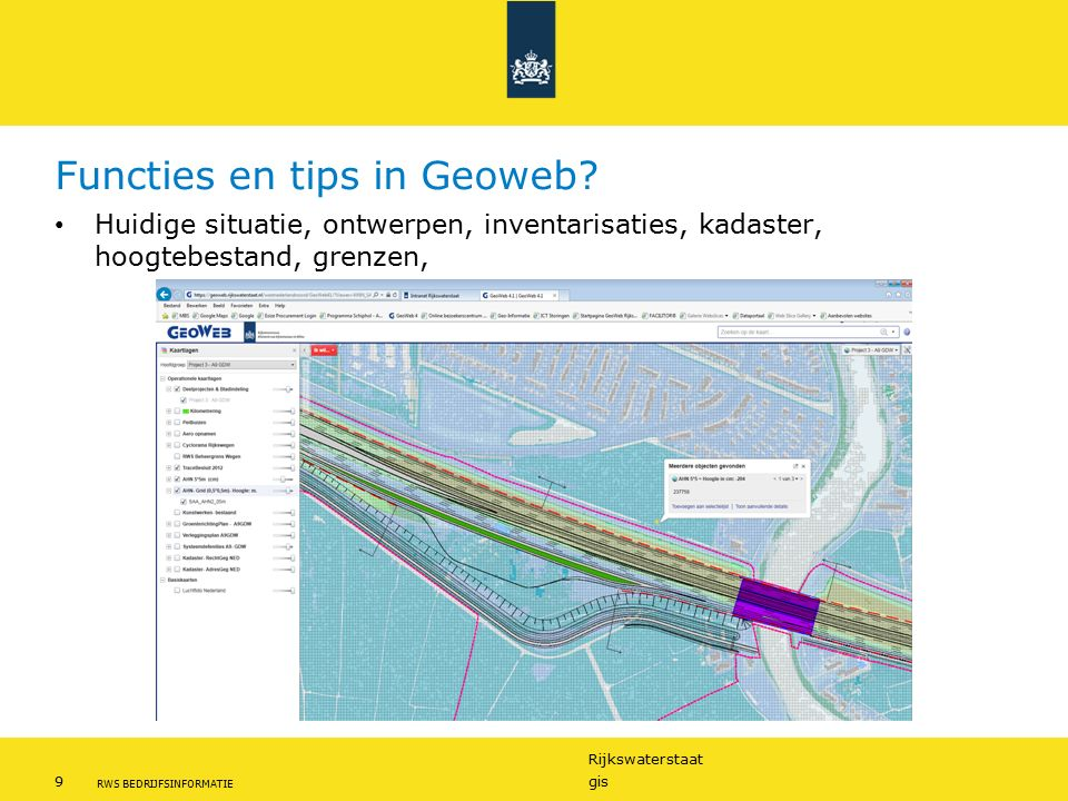 Functies en tips in Geoweb