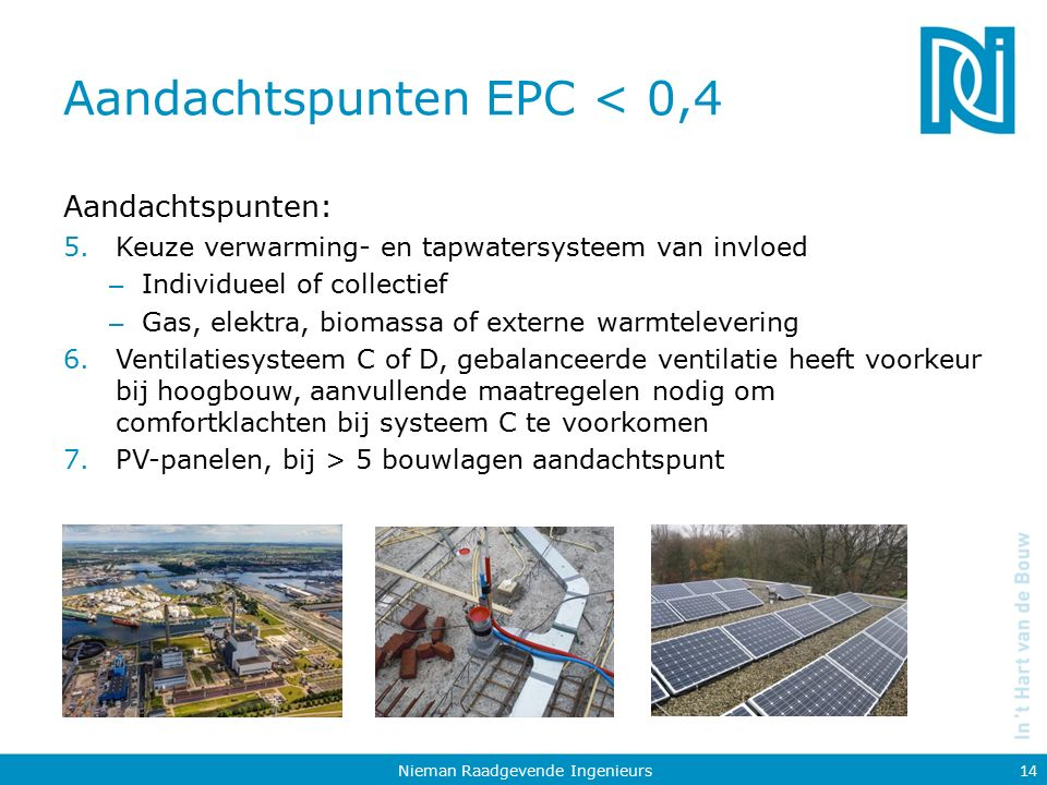 Aandachtspunten EPC < 0,4