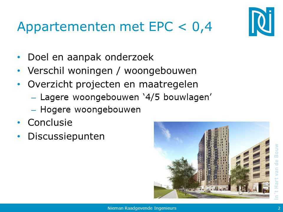 Appartementen met EPC < 0,4