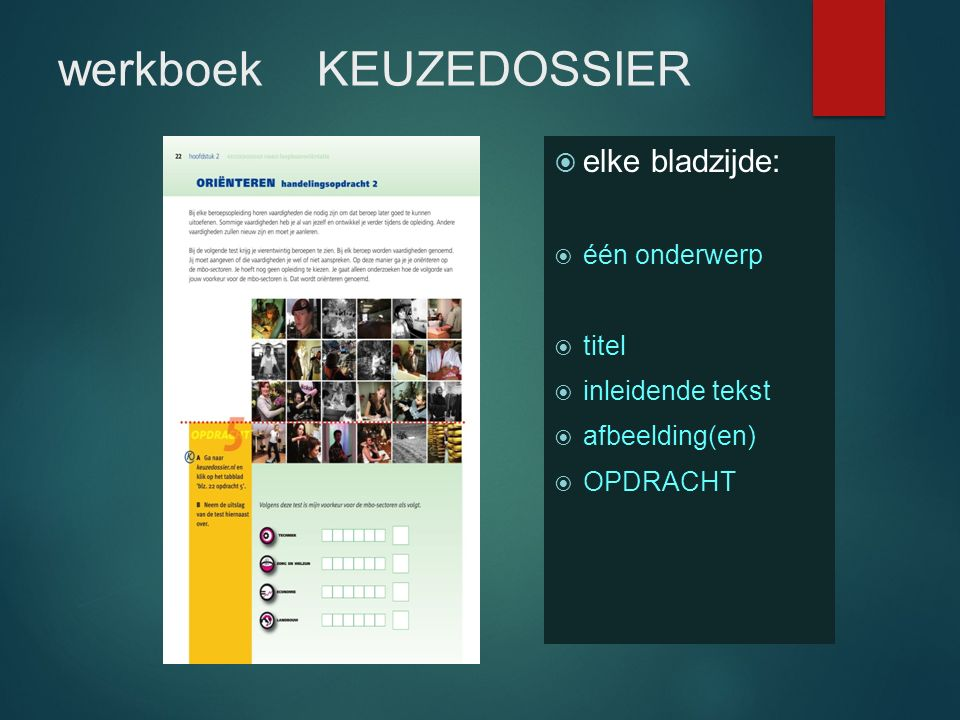 werkboek KEUZEDOSSIER