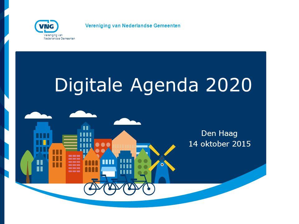 Digitale Agenda 2020 Den Haag 14 oktober 2015
