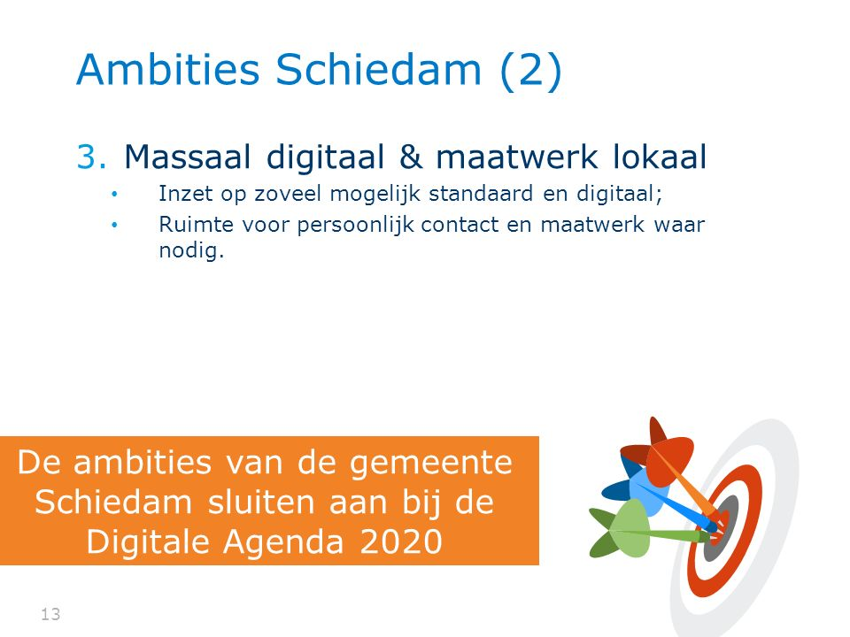 Ambities Schiedam (2) Massaal digitaal & maatwerk lokaal