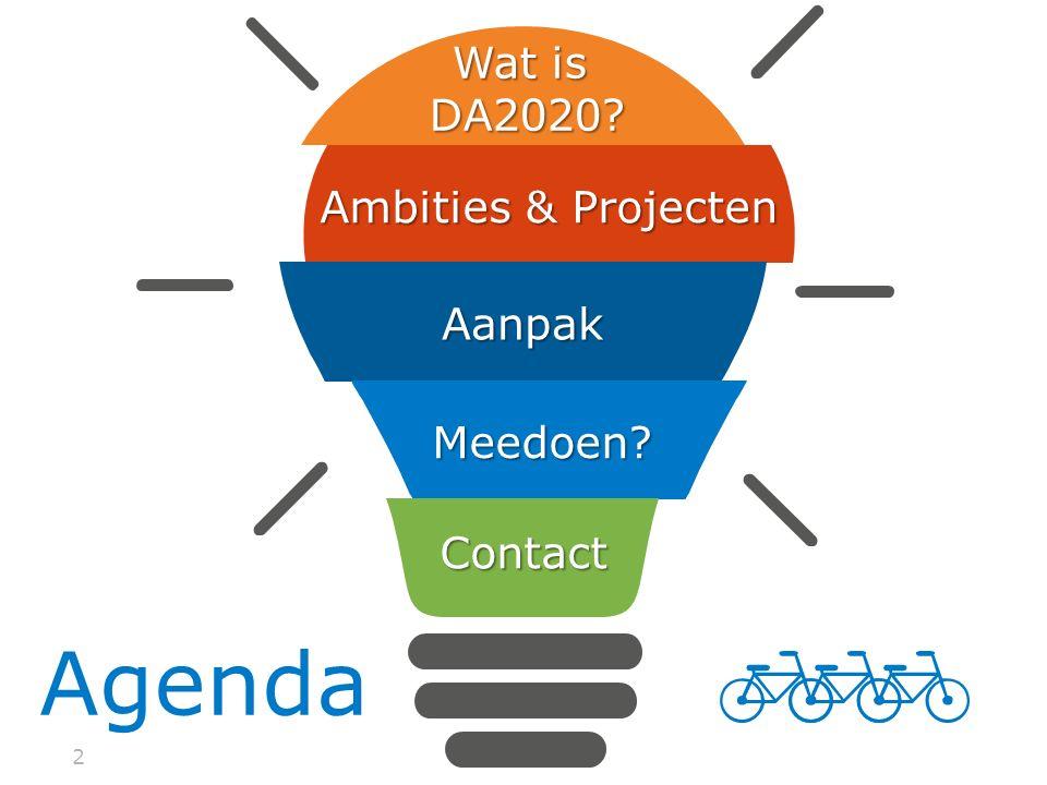 Wat is DA2020 Ambities & Projecten Aanpak Meedoen Contact Agenda