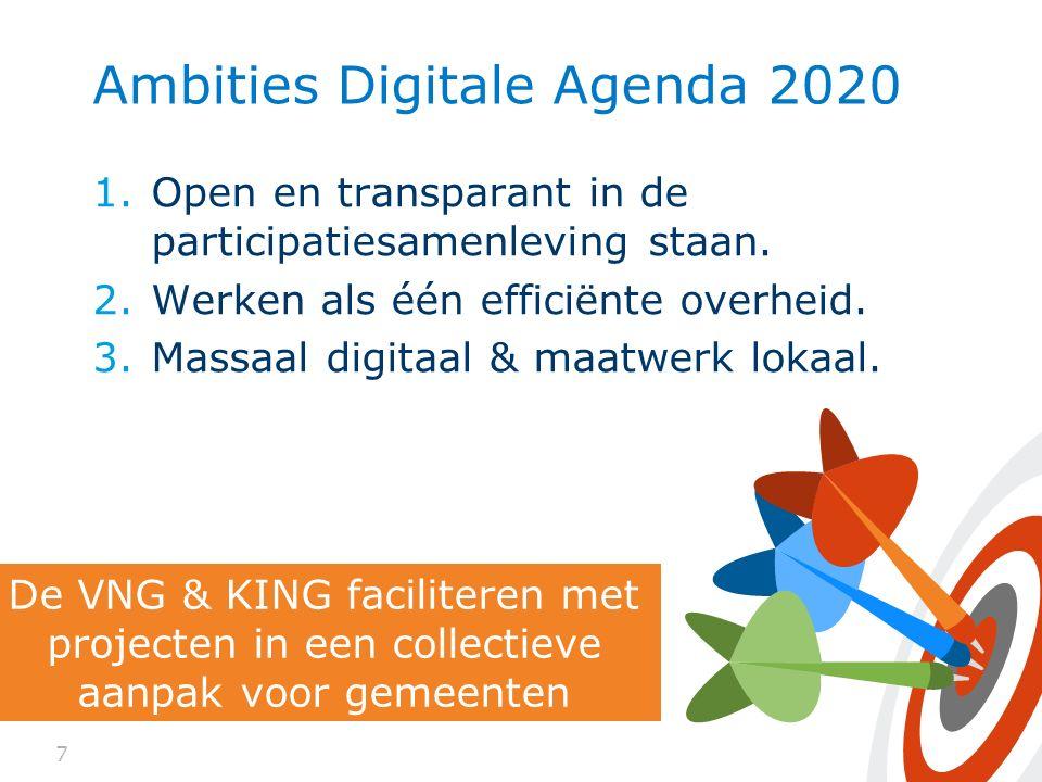 Ambities Digitale Agenda 2020