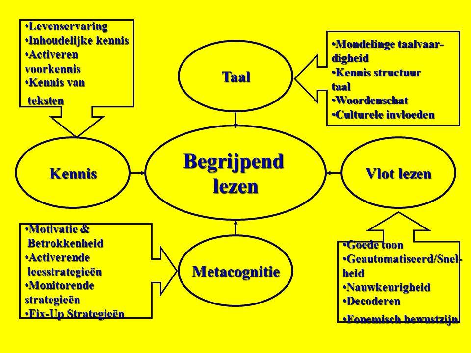 Begrijpend lezen Taal Kennis Vlot lezen Metacognitie Levenservaring