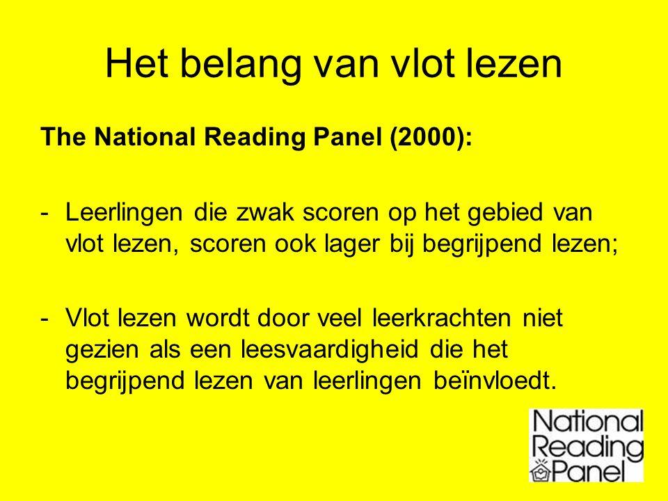 Het belang van vlot lezen