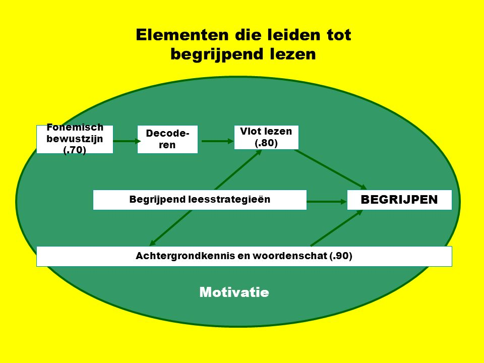 Elementen die leiden tot begrijpend lezen