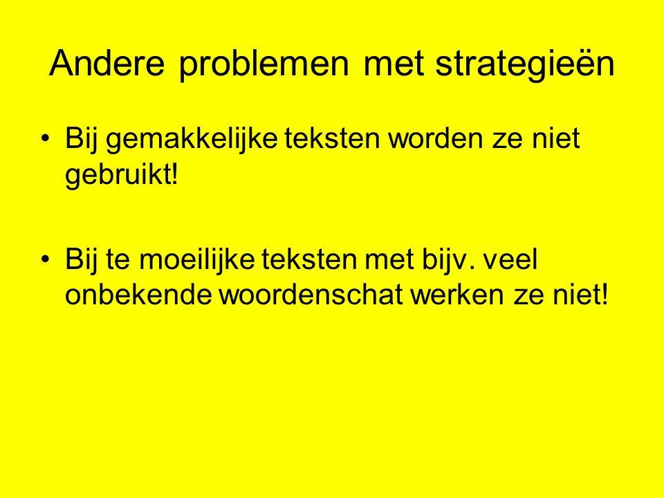 Andere problemen met strategieën