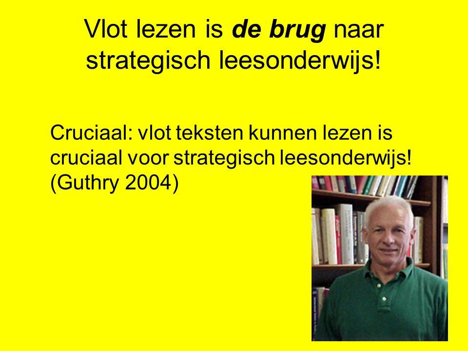 Vlot lezen is de brug naar strategisch leesonderwijs!