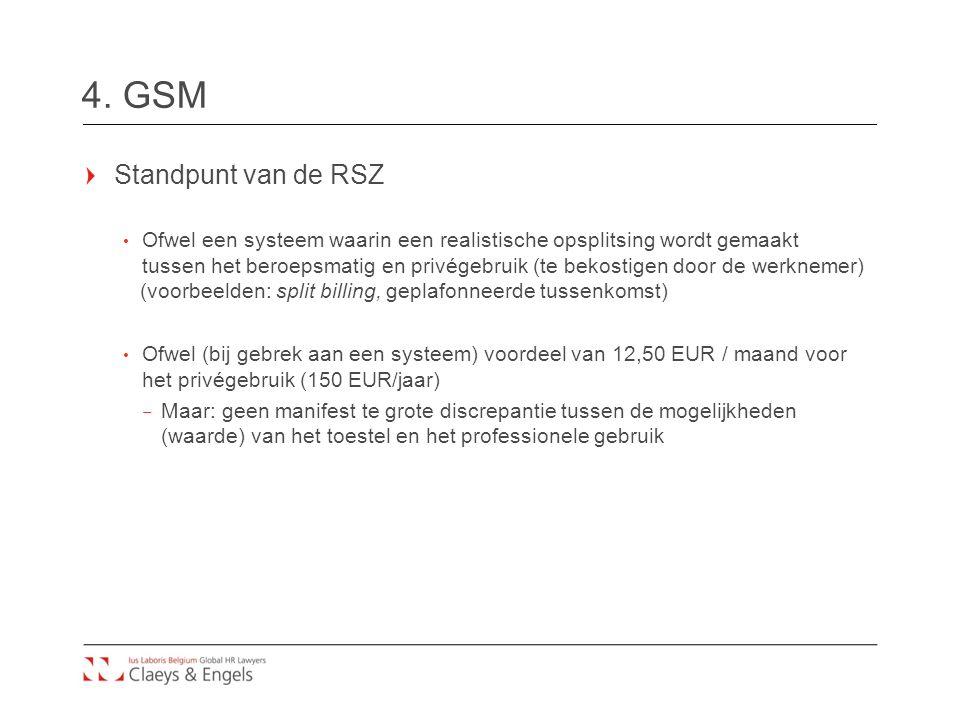 4. GSM Standpunt van de RSZ