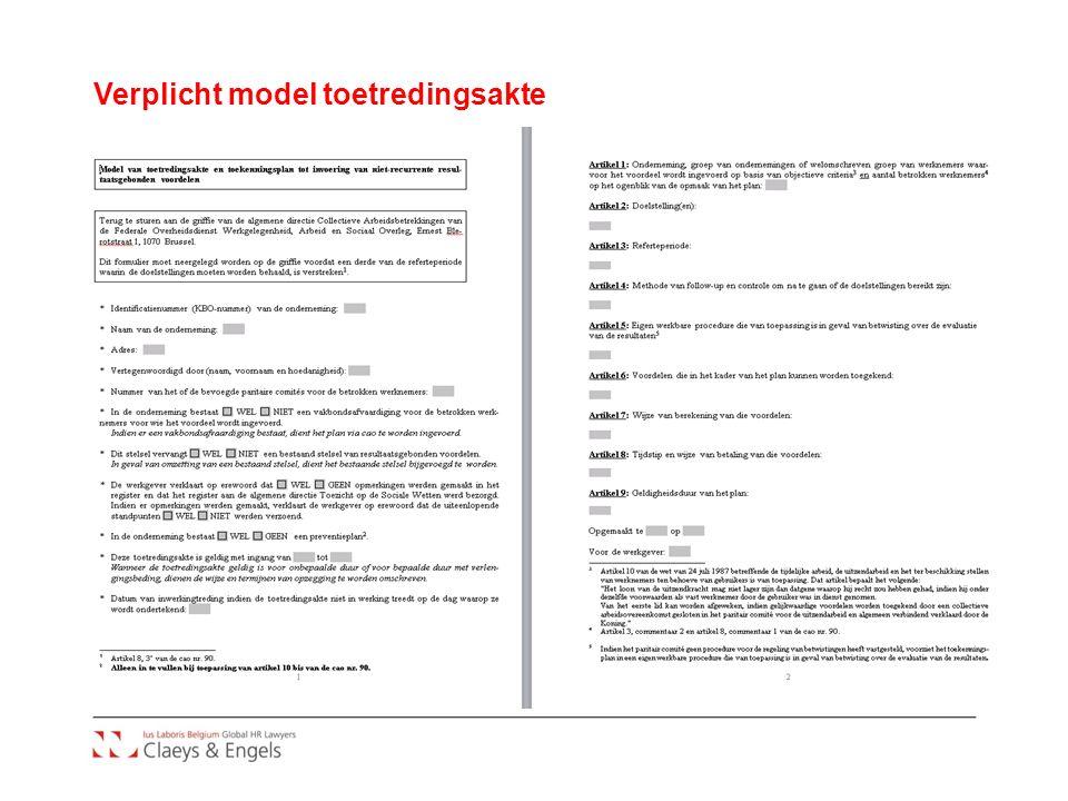 Verplicht model toetredingsakte