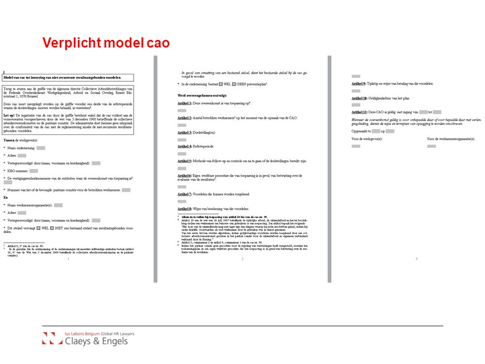 Verplicht model cao