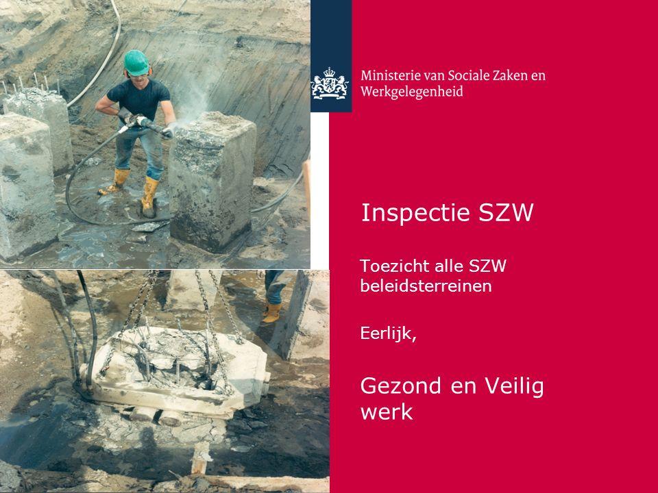 Inspectie SZW Gezond en Veilig werk Toezicht alle SZW beleidsterreinen