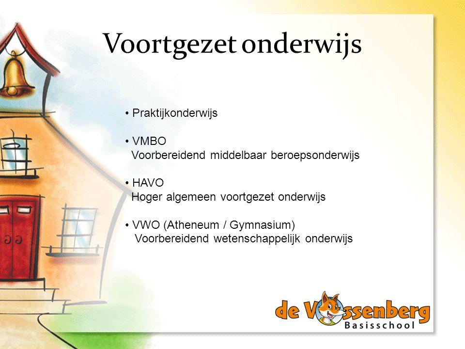 Voortgezet onderwijs Praktijkonderwijs VMBO