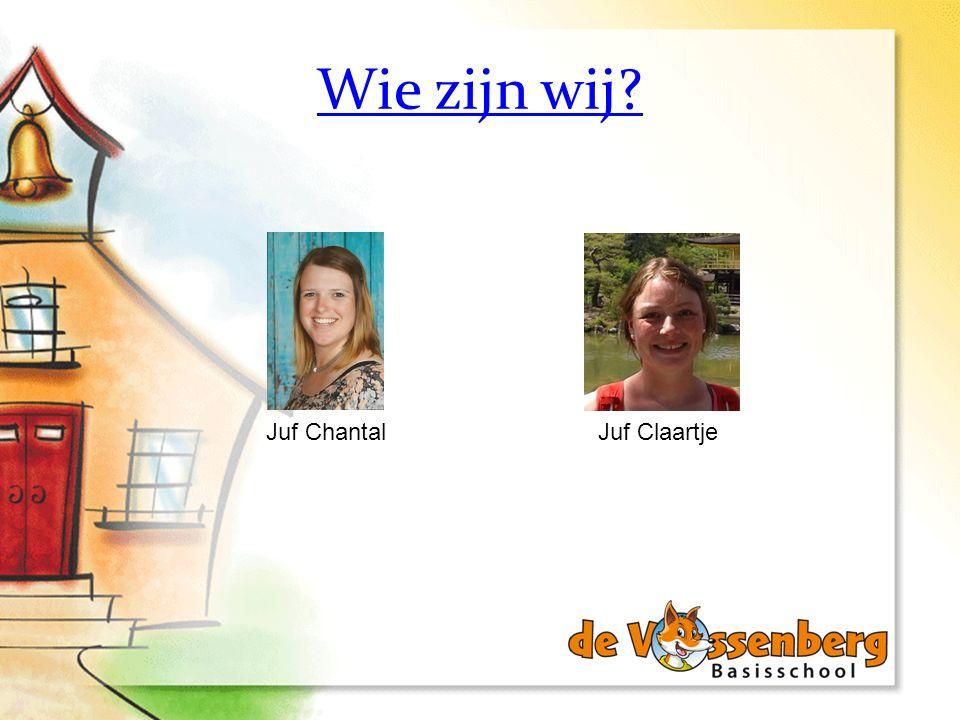 Wie zijn wij Juf Chantal Juf Claartje