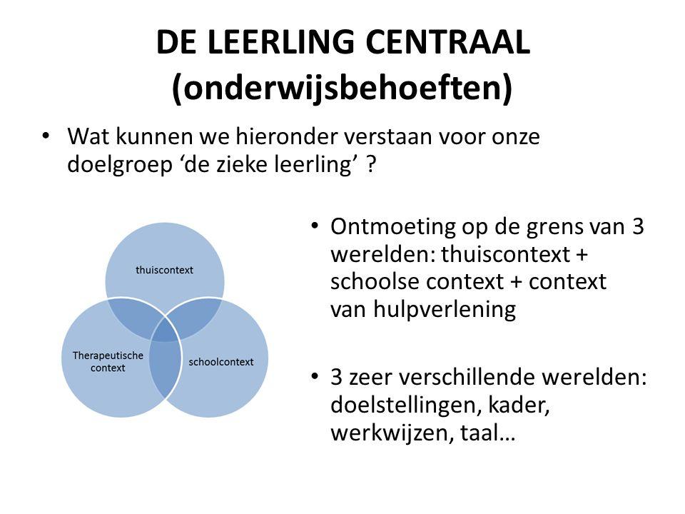 DE LEERLING CENTRAAL (onderwijsbehoeften)