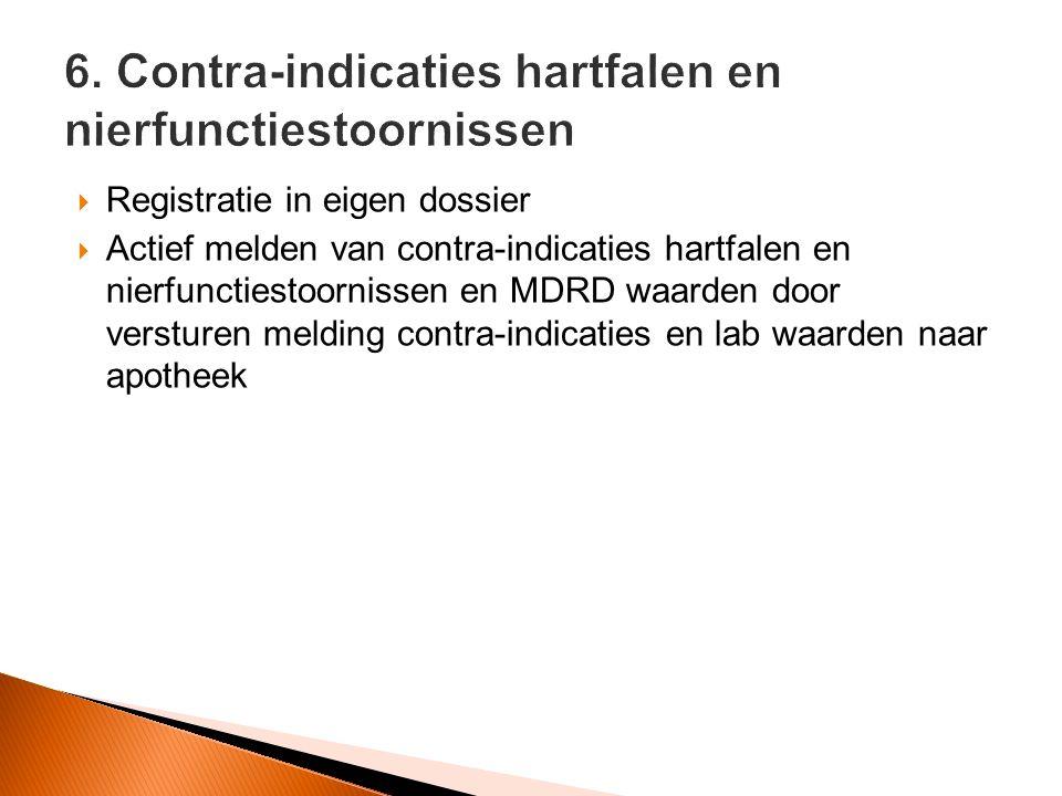 6. Contra-indicaties hartfalen en nierfunctiestoornissen