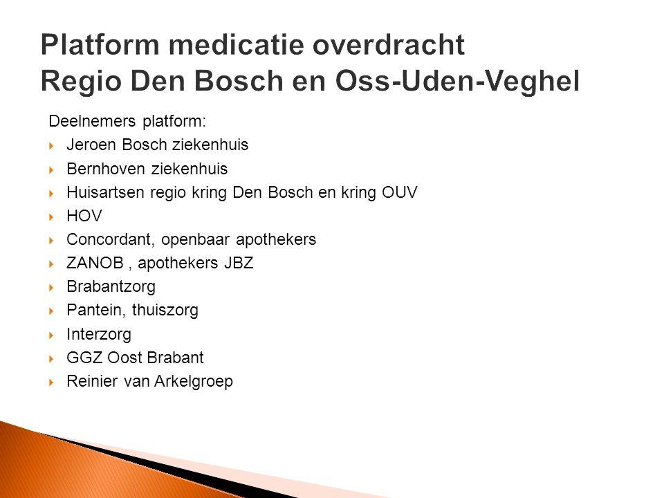 Platform medicatie overdracht Regio Den Bosch en Oss-Uden-Veghel
