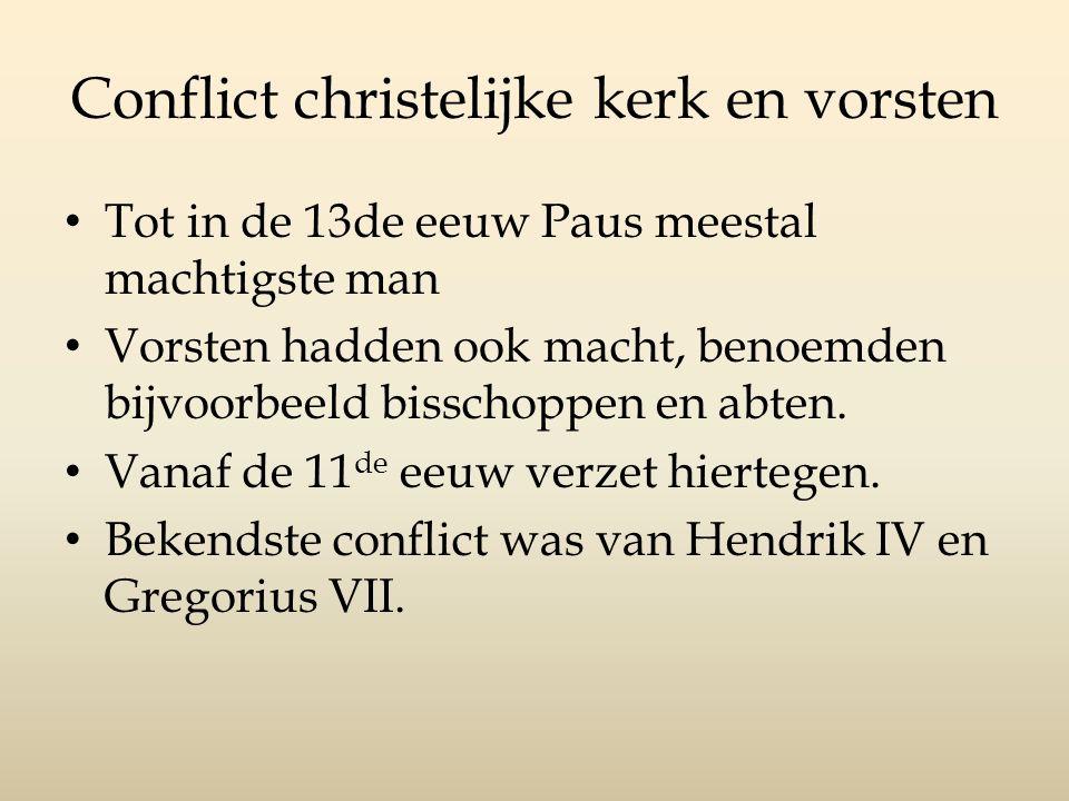 Conflict christelijke kerk en vorsten
