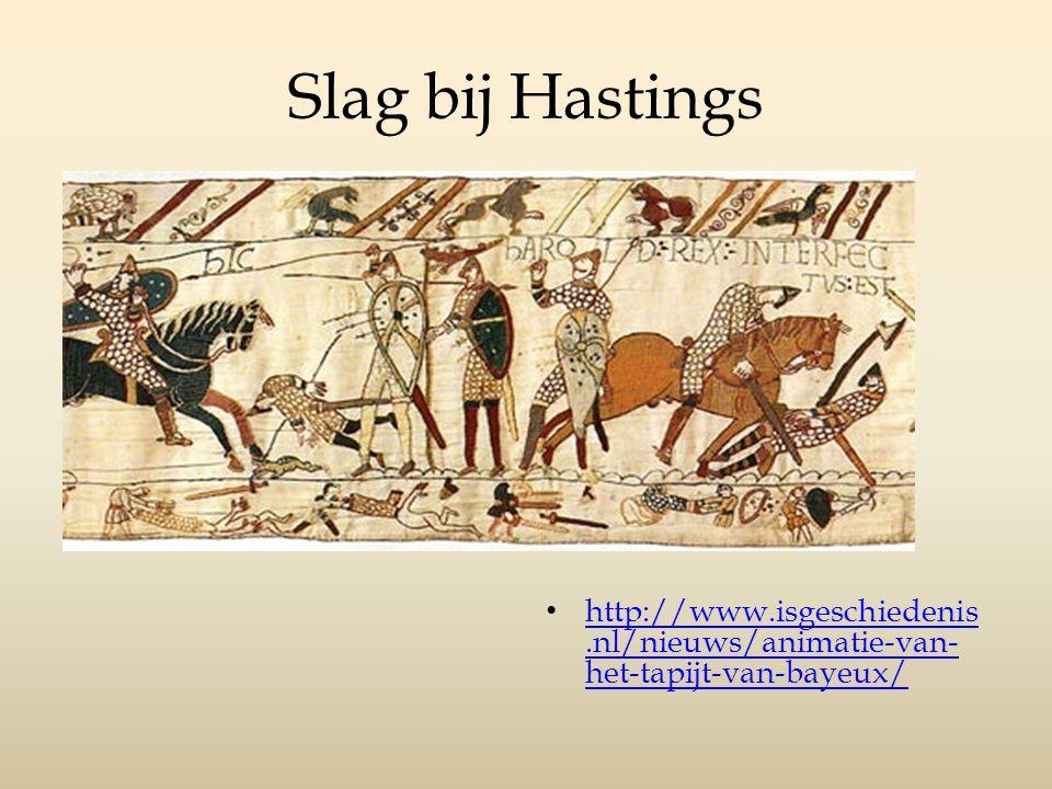 Slag bij Hastings http://www.isgeschiedenis.nl/nieuws/animatie-van-het-tapijt-van-bayeux/