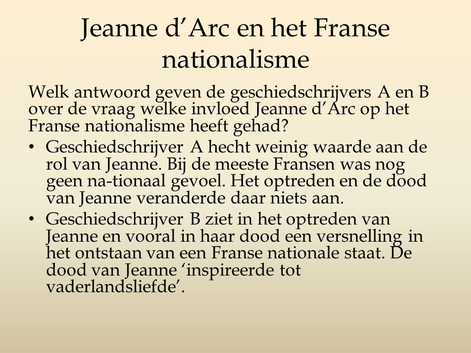 Jeanne d'Arc en het Franse nationalisme