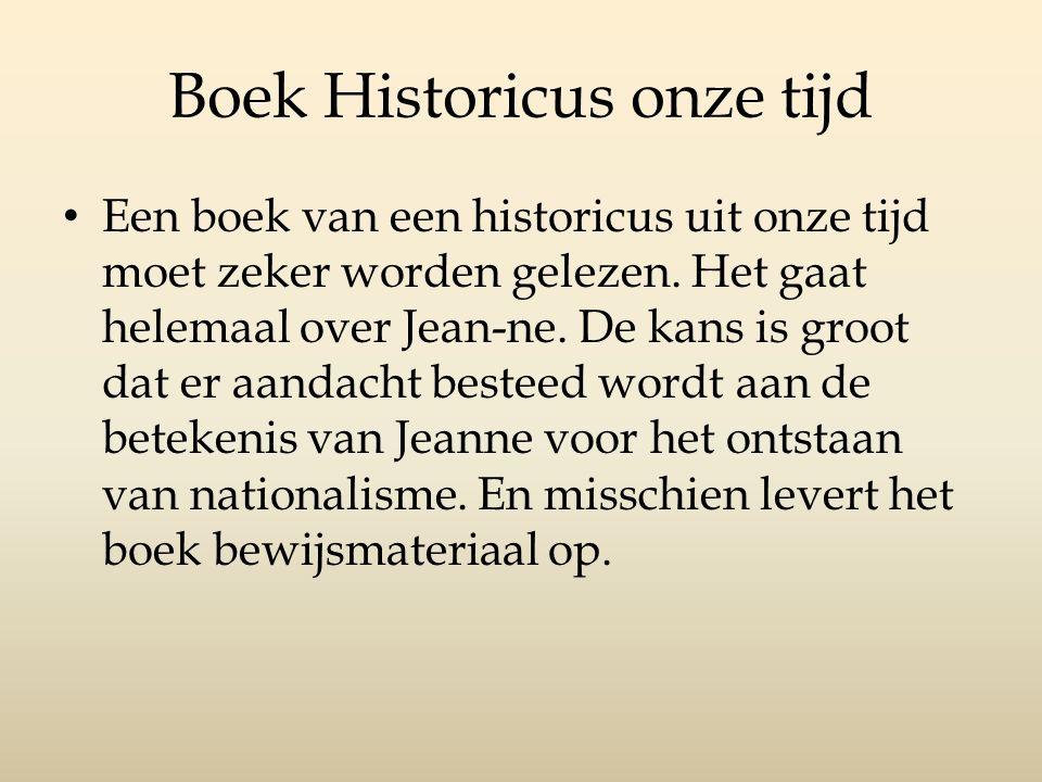 Boek Historicus onze tijd