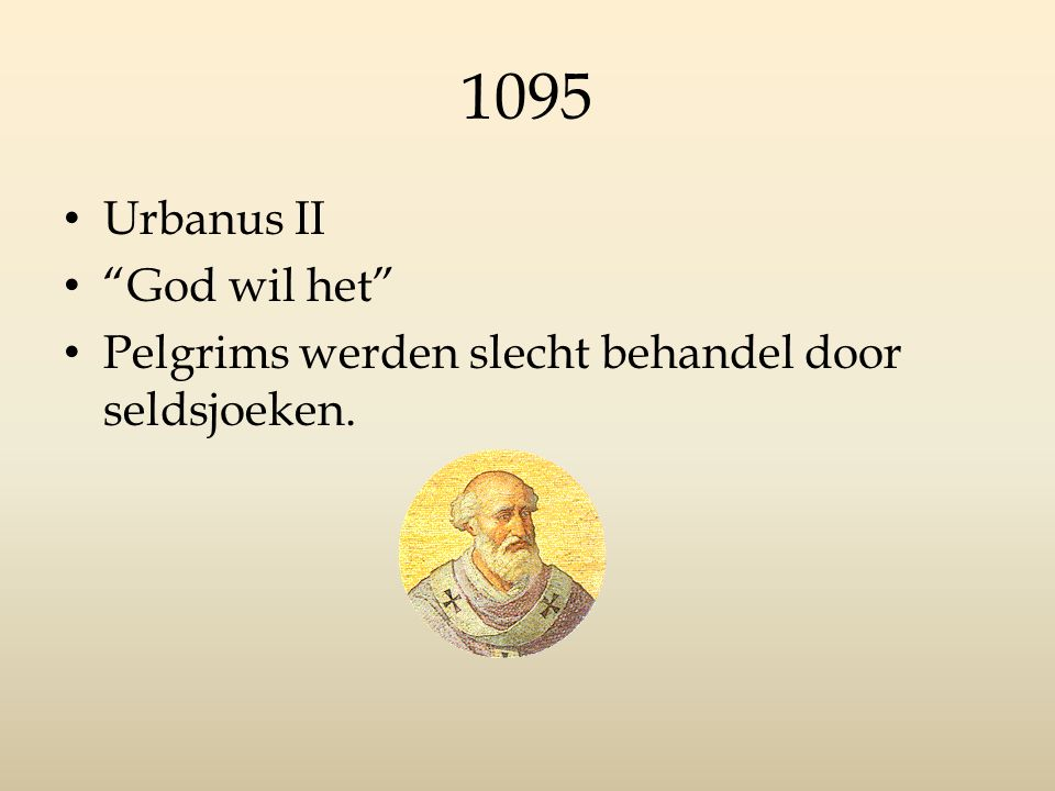 1095 Urbanus II God wil het