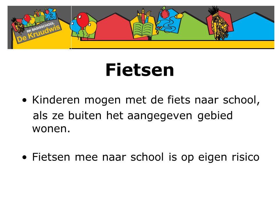 Fietsen Kinderen mogen met de fiets naar school,