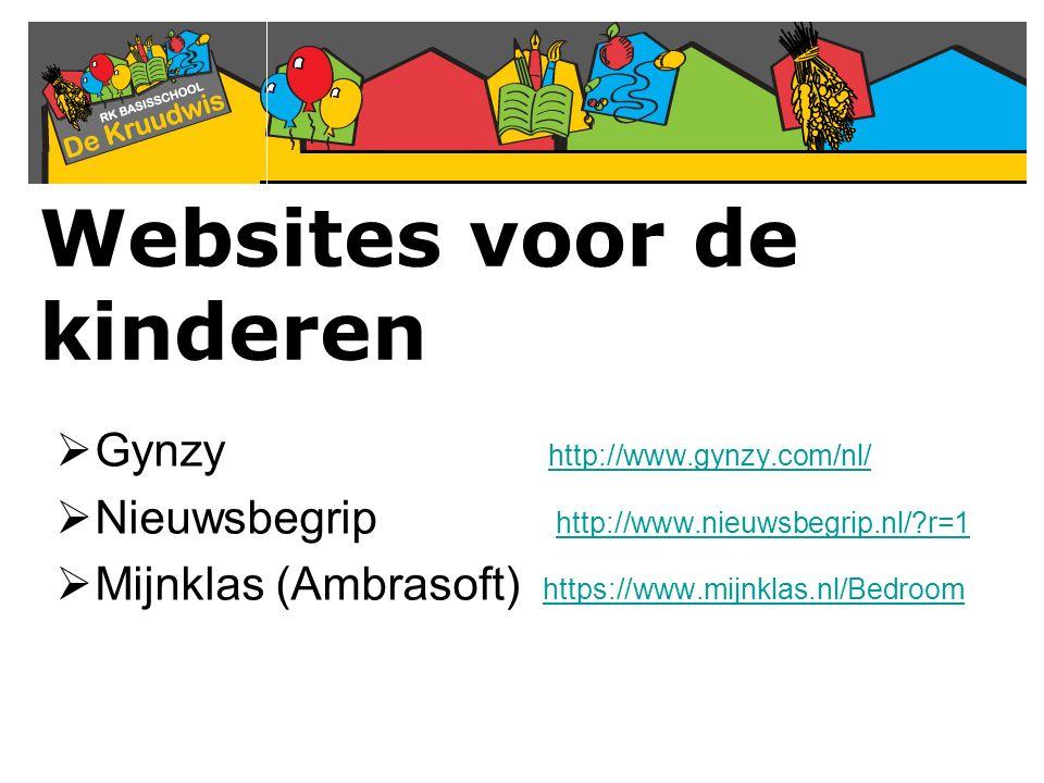 Websites voor de kinderen