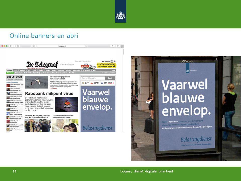 Online banners en abri Logius, dienst digitale overheid