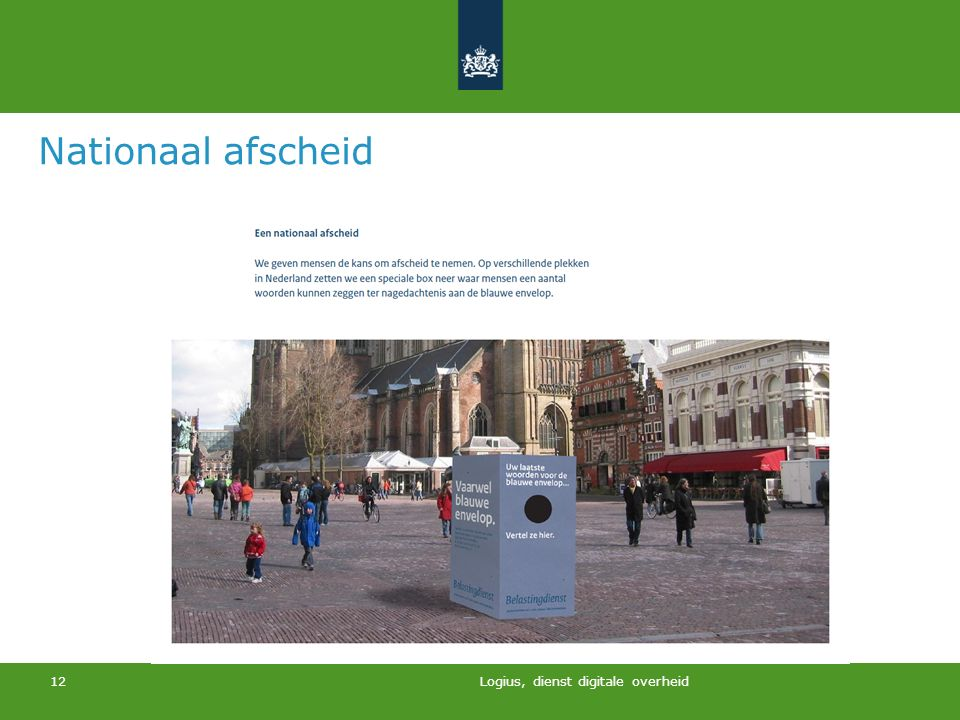 Nationaal afscheid Logius, dienst digitale overheid