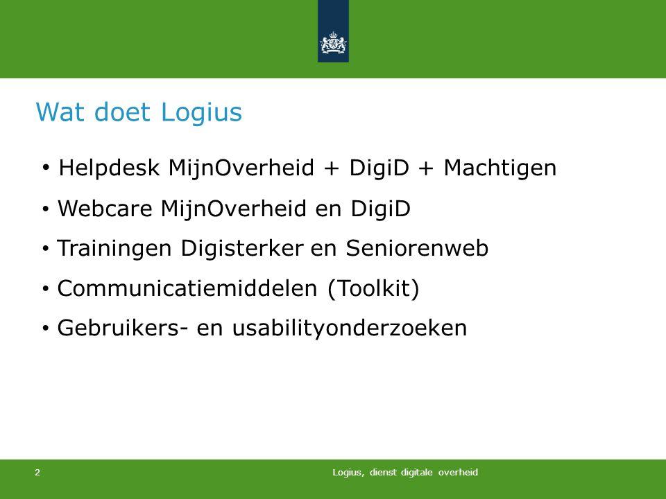 Wat doet Logius Helpdesk MijnOverheid + DigiD + Machtigen