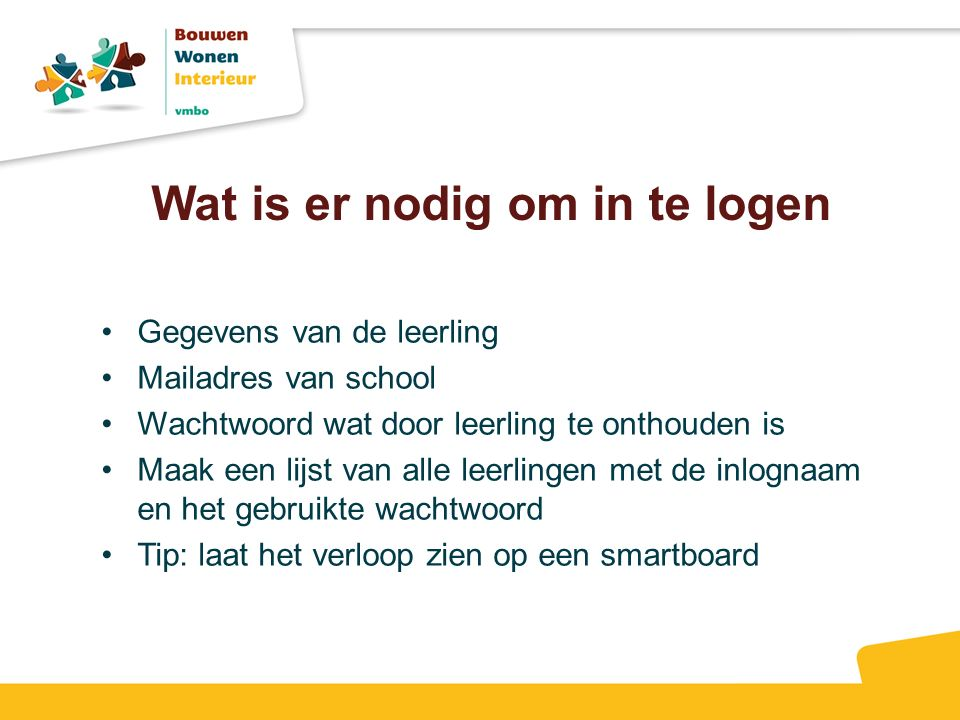Wat is er nodig om in te logen