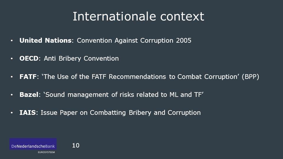 Internationale context