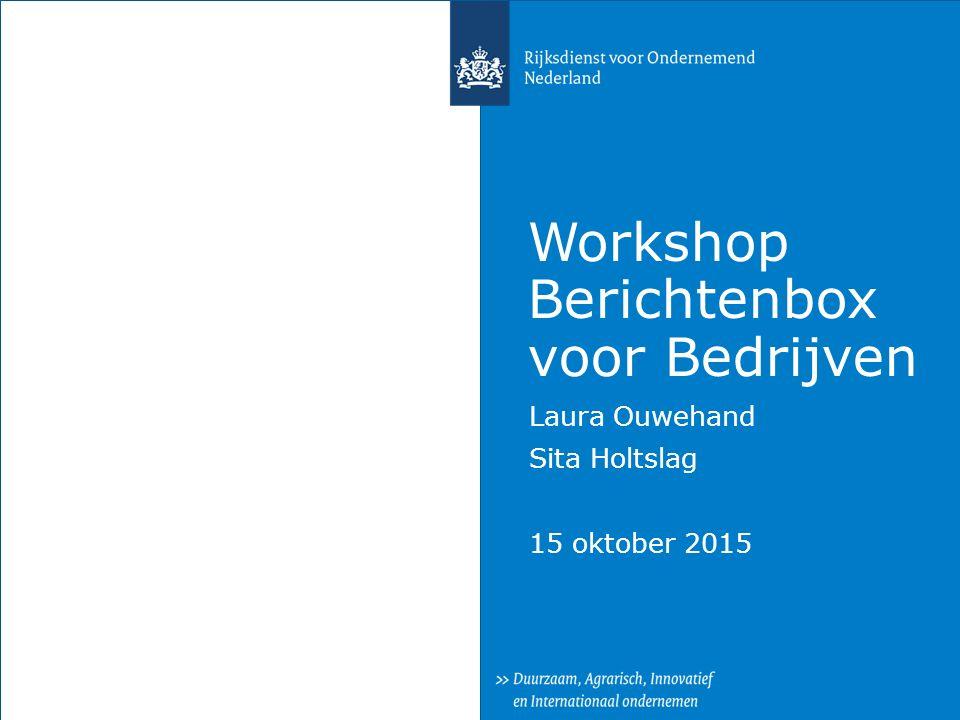 Workshop Berichtenbox voor Bedrijven
