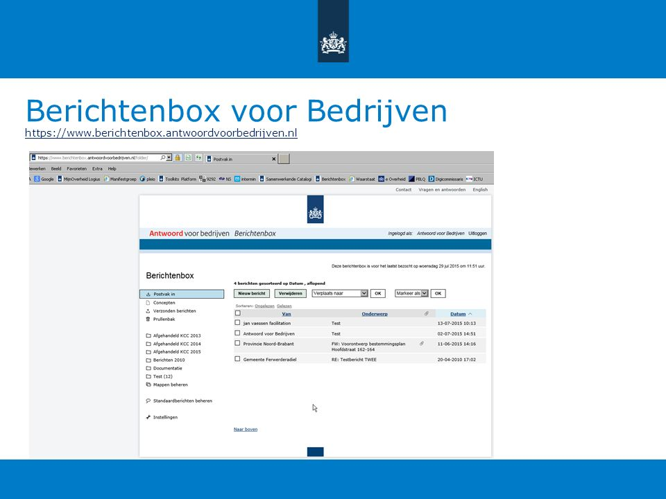 Berichtenbox voor Bedrijven https://www. berichtenbox