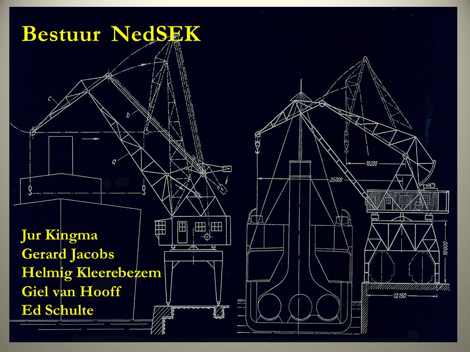 Bestuur NedSEK Jur Kingma Gerard Jacobs Helmig Kleerebezem