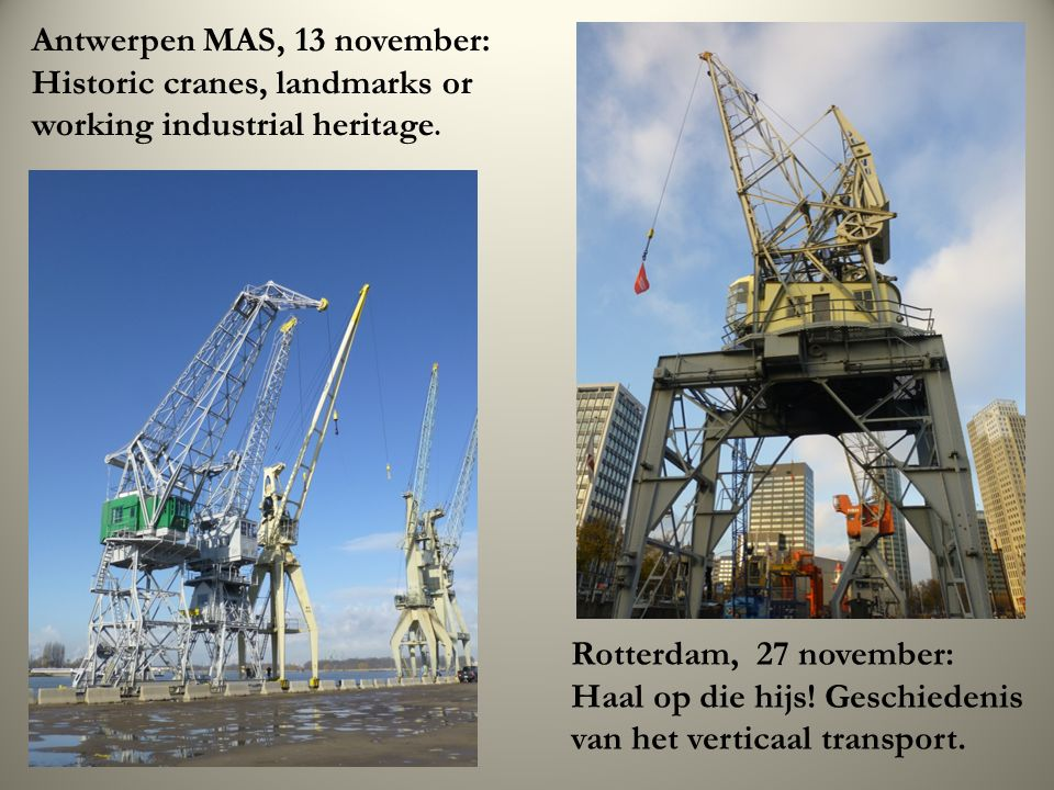 Antwerpen MAS, 13 november: