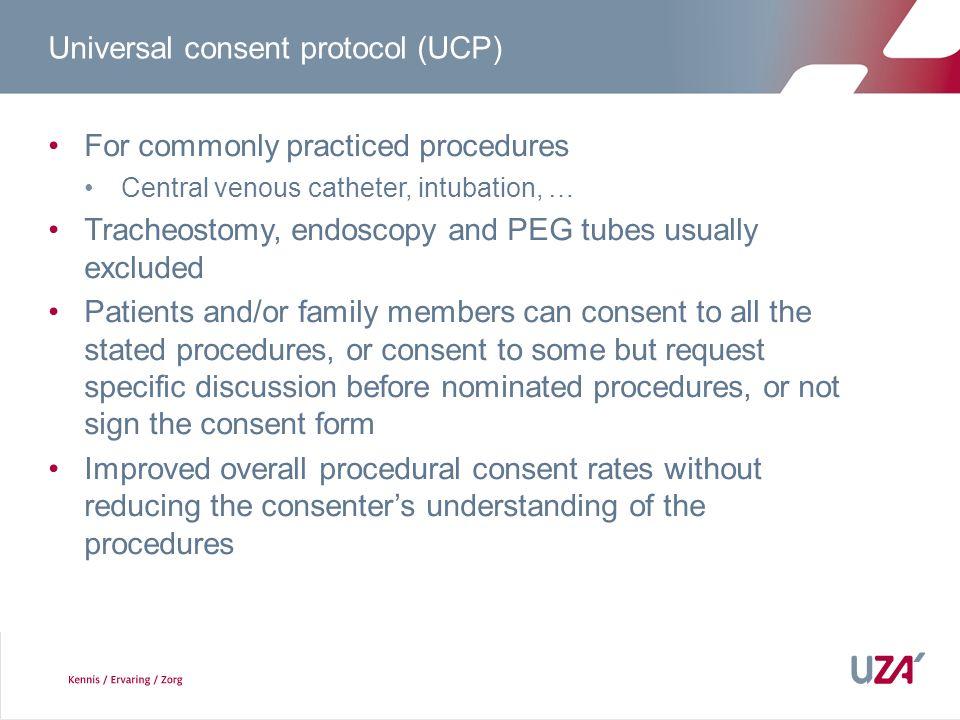 Universal consent protocol (UCP)