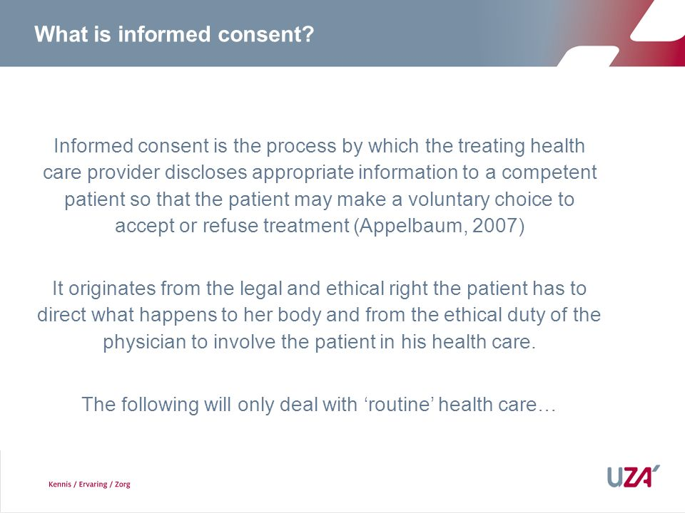 What is informed consent